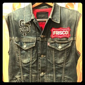 "Custom 49ers Levi's ""Frisco"" 5xChampion Vest"
